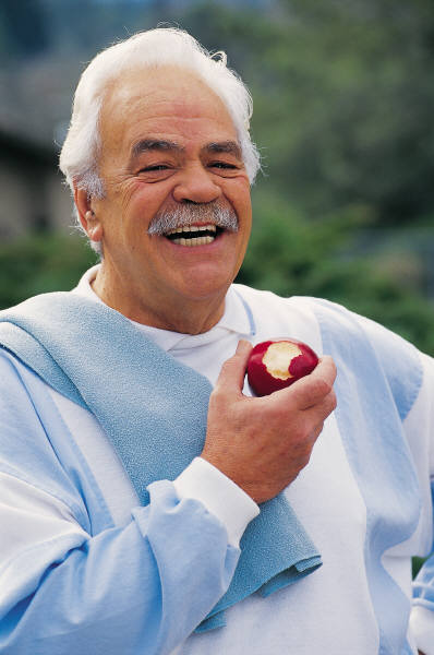 A laughing elderly man